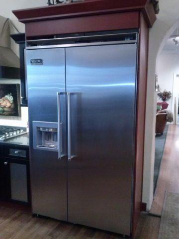 Display Viking 48 Quot Side By Side Refrigerator Freezer