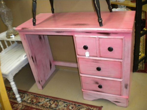 Distressed Pink And Black Desk Jenks For Sale In Tulsa Oklahoma Classified Americanlisted Com