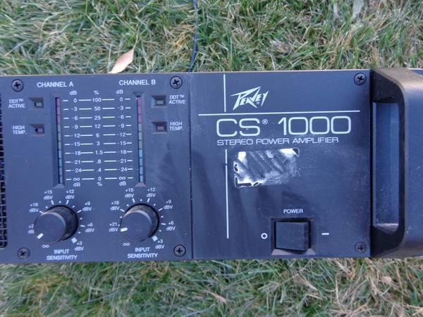 Dj Gear Peavey Cs 1000 Stereo Power Amplifier For Sale