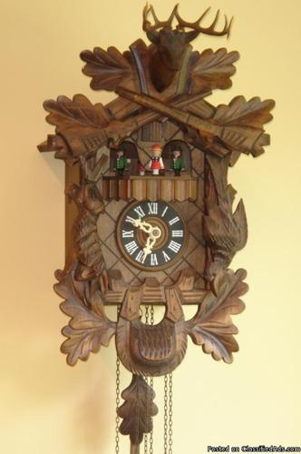 DOLD Black Forest Cuckoo Clock, Hunter style for Sale in Madison, Alabama Classified ...