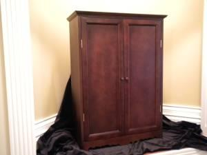 DOLL WARDROBE SOLID WOOD cherry finish - $75 Berea, KY