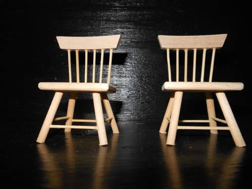 Dollhouse Miniature Unfinished Wood Furniture For Sale In