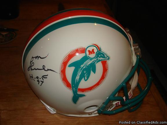 separation shoes 03daf 54a9c DON SHULA AUTOGRAPHED AUTHENTIC MIAMI DOLPHIN HELMET for ...