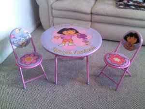 Dora the Explorer 3pc. Table & Chair Set - (Beverly Hills) for Sale ...