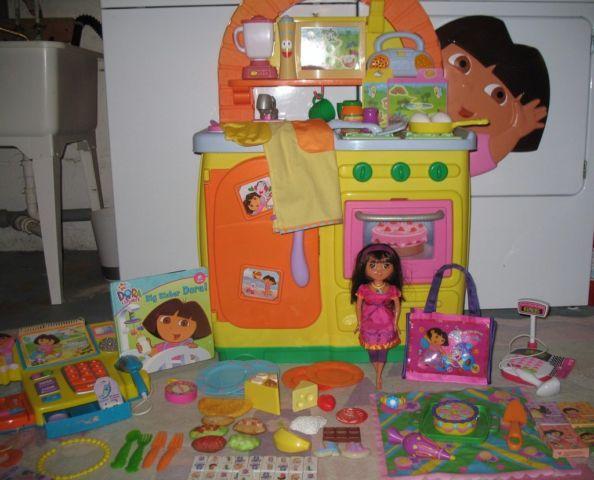 Dora The Explorer Talking Kitchen Toy Food Pretend