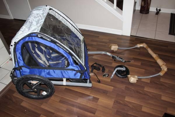 Double bike trailer  jogging stroller - $50
