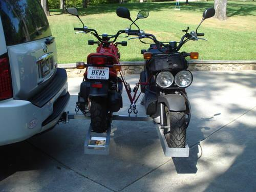 Double Hitch Mounted Motorcycle Carrier Double Motorcycle Carrier Alum