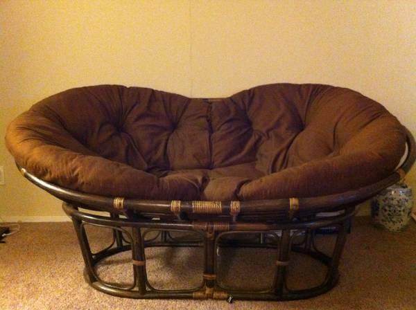 Double Papasan Chair  Espresso   $130