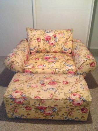 Down Filled Chair U0026 A Half With Ottoman   $350