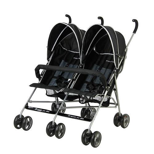 Dream On Me Twin Stroller - Black