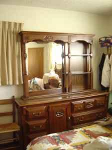 Dresser Mirror Large Dark Solid Wood Eugene For Sale In Eugene