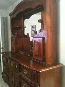 Dresser Mirror Solid Wood Cherry Finish Arvada For Sale In