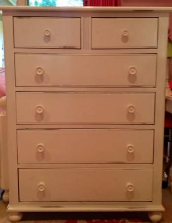 Dresser Tall White Six Drawer For Sale In Portola