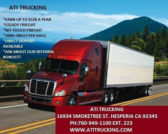 owner operator truck driving jobs in california
