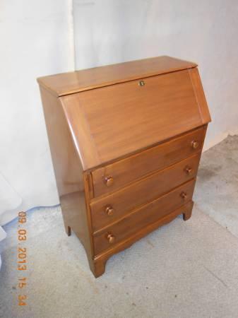 Drop Front Maple Secretary Desk 275