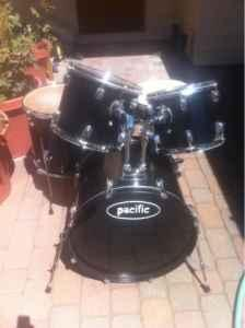 Drum Set and add on practice pads - $225 (Medford,