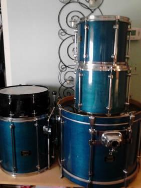 Drum Set Mapex Mars Pro With Pearl Expert Snare Toms