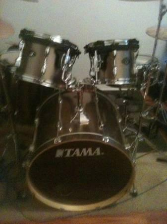 drums 5pc tama series,shells only, no hardware - $450