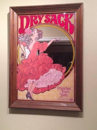 Dry Sack Mirror Bar Sign Quot Dancing Lady Quot Rare For Sale In