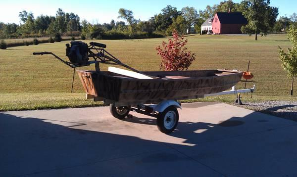 Boat+Mud+Motors+For+Sale duck boat with mud motor & decoys for Sale in