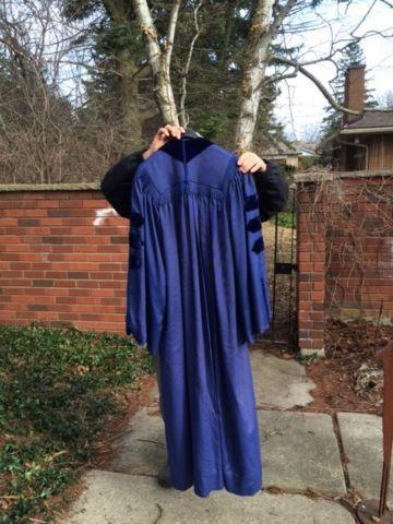DUKE UNIVERSITY DOCTORAL GRADUATION GOWN CAP AND HOOD ROBES