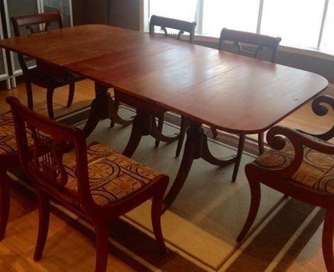 Duncan Phyfe Dining Table For Sale In Sherman Texas