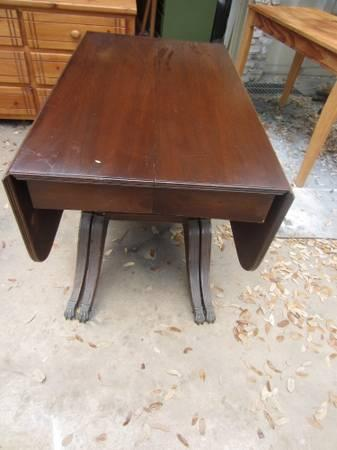 Duncan Phyfe Round Table With Drawer.Duncan Phyfe Drop Leaf Dining Table With Leafs 150