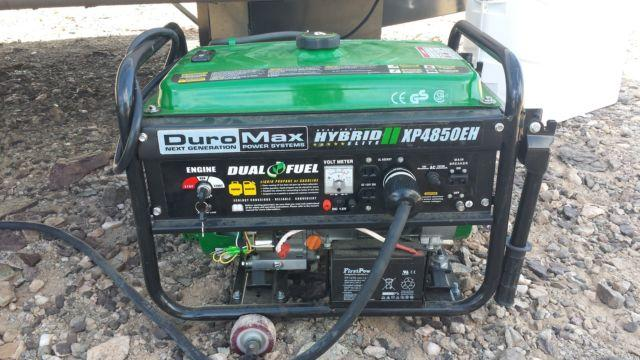 duromax portable generator hybrid elite xp4850eh duel fuel for rv