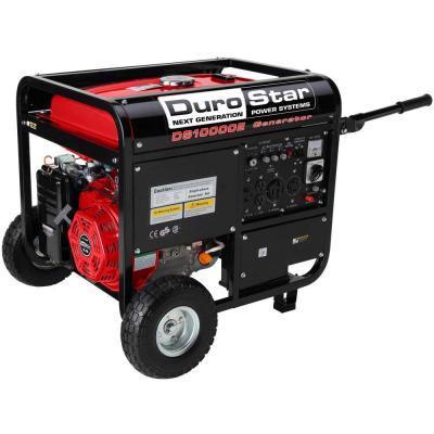 Durostar 10,000-Watt 16.0 Hp Gasoline Powered Electric Start Portable Generator with Wheel Kit