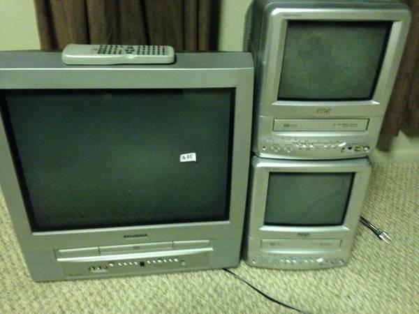 DVDs, VHS, TVs - $3