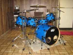 dw drums collectors series 5 pc blue black rare combo
