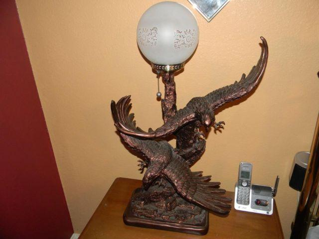 Eagle table lamps for sale in humble texas classified for Eagle decorations home