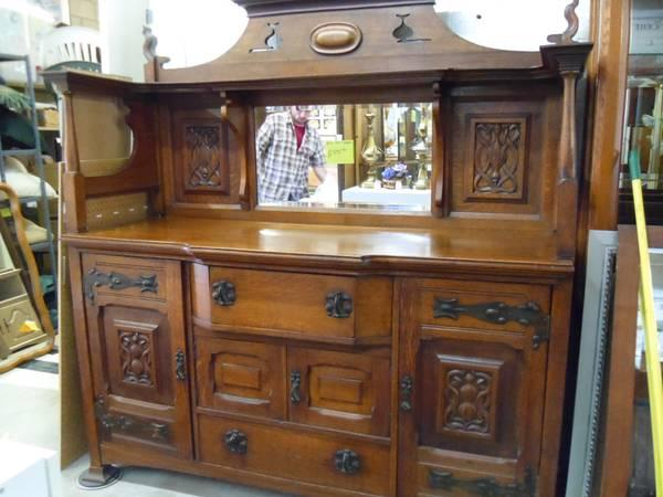 Early 1800s ANTIQUE BUFFET  HUTCH VERY NICE - $895
