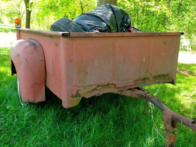 early 50's International pickup bed trailer/ need
