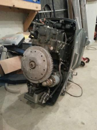 early 70's johnson 50 hp outboard motor - $600