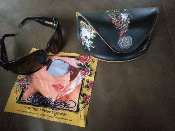 ED HARDY VINTAGE TATTOO GLASSES GEISHA AND DRAGON -
