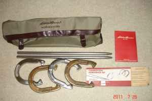 EDDIE BAUER COMPETITION HORSESHOE SET - $50
