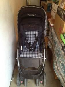 EDDIE BAUER STROLLER W/ MATCHING INFANT CAR SEAT - $50