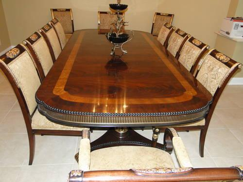 Ej victor regency dining room table and chairs for sale