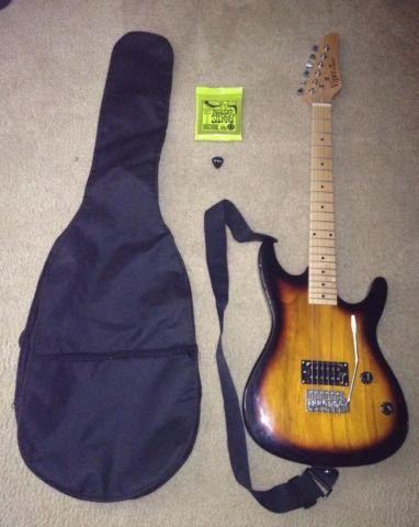 Electric guitar with case