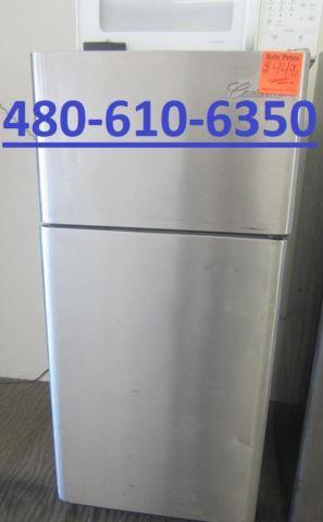 electrolux stainless steel top freezer fridge