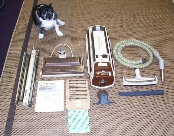 Electrolux Vintage Olympia One Deluxe Canister Vacuum
