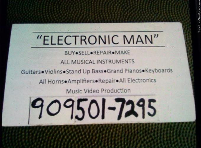 ELECTRONIC MAN. MUSIC COMPANY REPAIR ALL MUSICAL