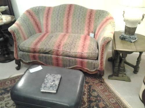 Elegant Antique Empire Carved Sofa C1820 For Sale In Jacksonville