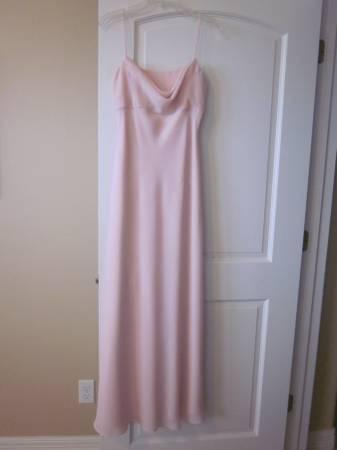 Elegant Long Formal Dress - Size 4-6 -Pale Pink Color -