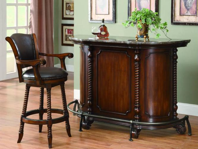 Elegant Marble Top Bar Unit Rooms Furniture Save