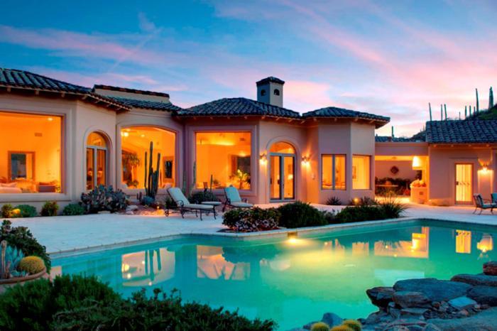 Elegant mediterranean style estate for sale in tucson for Elegant mediterranean homes