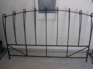 Elegant Pier 1 Wrought Iron King Size Headboard Bed