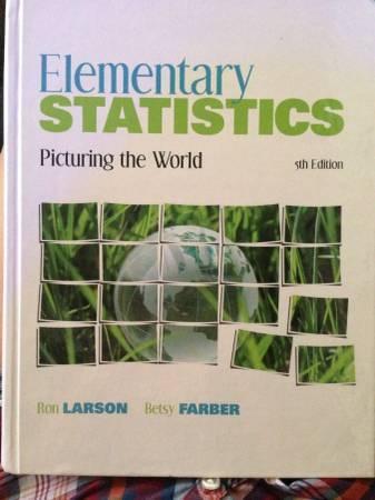 Elementary statistics 5th edition - $50