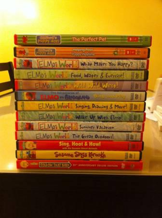 Elmo Sesame Clifford Dvd Lot Of 13 For Sale In Kennewick